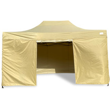 Grasekamp Faltpavillon Modena 3x4,5m beige inkl.  Seitenteile - extra starkes Gestell beige
