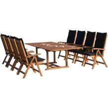 Grasekamp Garten Möbelgruppe Cuba 17tlg Premium  Anthrazit mit ausziehbaren Tisch auf 240  cm Anthrazit
