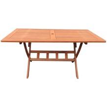 Grasekamp Gartenklapptisch Rio Grande 140x80cm  Holztisch Esstisch Gartentisch  Balkon-Tisch Natur