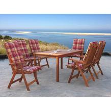 Grasekamp Gartenmöbel 13tlg Sunshine mit 160cm  Tisch Terrassenmöbel Santos Natur/Sunshine