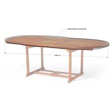 Grasekamp Gartentisch Tischplatten Abdeckung  Schutzhülle Plane Abdeckplane 180x100cm  oval Weiss