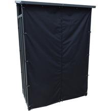 Grasekamp Kaminholzunterstand 130 x 60 x 203 cm  mit Wetterschutz Set Kaminholzregal  Kamin Holzofen Regal Aussen Grau