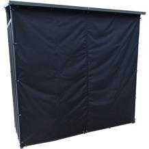 Grasekamp Kaminholzunterstand XL 200 x 70 x 195 cm  mit Wetterschutz Set Kaminholzregal  Kamin Holzofen Regal Grau