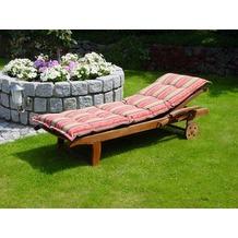 Grasekamp Kissen Gartenliege Liegestuhl  Sonnenliege Relaxliege - Flower Bunt