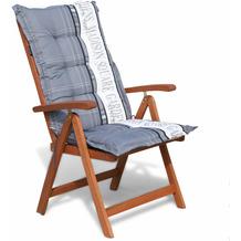 Grasekamp Klappsessel Cuba mit Kissen Garden Grey  Relaxsessel Sessel Gartenmöbel Natur/Grau
