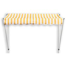 """Grasekamp Klemmmarkise Ontario 200x130cm Gelb/Weiß  Balkonmarkise höhenverstellbar von 200  cm """"? 320 cm Gelb"""