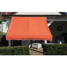 """Grasekamp Klemmmarkise Ontario 200x130cm Orange  Balkonmarkise höhenverstellbar von 200  cm """"? 320 cm Orange"""