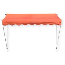 Grasekamp Klemmmarkise Ontario 255x130cm Orange  Balkonmarkise höhenverstellbar von 200  cm – 320 cm Orange