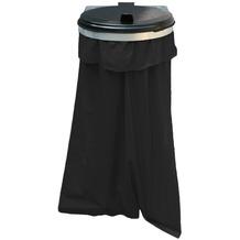 Grasekamp Müllsackhalterung Konsol zur Wandmontage  inkl 10 Abfallsäcke 120 Liter Silber