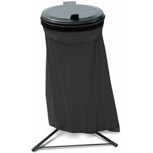 Grasekamp Abfallsammler Talent mit Deckel und 10  120L Müllsäcken Müllsackständer Schwarz