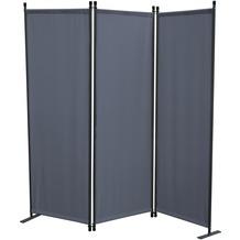 Grasekamp Paravent 3 teilig Grau Raumteiler  Trennwand Sichtschutz Stellwand Grau