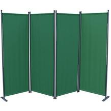 Grasekamp Paravent 4 teilig Grün Raumteiler  Trennwand Sichtschutz Balkontrennung Grün