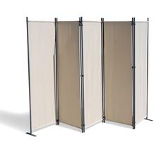 Grasekamp Paravent 5 teilig Beige 268 x 167 cm  Raumteiler Trennwand Sichtschutz Beige