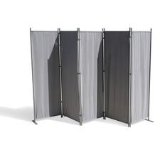 Grasekamp Paravent 5 teilig Grau 268 x 167 cm  Raumteiler Trennwand Sichtschutz Grau