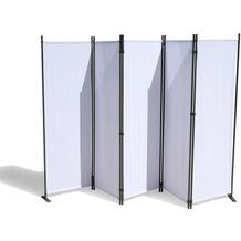 Grasekamp Paravent 5 teilig Weiss 268 x 167 cm  Raumteiler Trennwand Sichtschutz Weiß