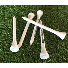 Grasekamp Premium Golf Tees - 70mm - 2000 Stück -  100% Bambus weiß