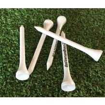 Grasekamp Premium Golf Tees - 70mm - 250 Stück -  100% Bambus weiß