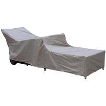 Grasekamp Premium Schutzhülle Gartenliege  Liegestuhl Sonnenliege Relaxliege Grau Grau