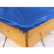 Grasekamp Sandkastenabdeckung Plane für Sandkasten  120x120cm Blau Blau
