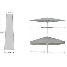 Grasekamp Schirmhülle 200x50cm RV Polyester/PVC+Zu Grau