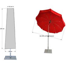 Grasekamp Schirmhülle  Länge 120cm Sonnenschirm  Schutzhaube Schutzhülle Abdeckplane Silbergrau