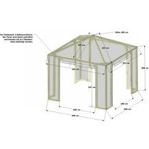 Grasekamp Schutzhaube zu Pavillon Lindgren -  Premium Silbergrau