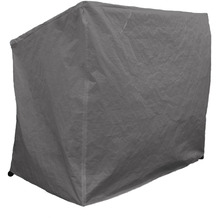 Grasekamp Schutzhülle Hollywoodschaukel  Gartenschaukel - 210D Oxford Gewebe -  mit 2 Reißverschlüssen Schwarz Grau