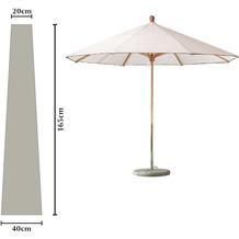 Grasekamp Schutzhülle Länge 165cm zu Sonnenschirme  bis Ø 300cm Schutzhaube Abdeckplane Weiß