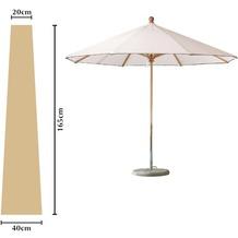 Grasekamp Schutzhülle Sonnenschirm bis ca. 300 cm  Ø Länge 165 cm Beige Sand