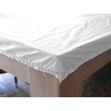 Grasekamp Schutzhülle Tischplatte 200x100cm  Abdeckung Plane Abdeckhaube Weiß Weiss