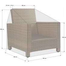 Grasekamp Schutzhülle zu Lanzarote Lounge Sessel  PVC Gewebe Grau