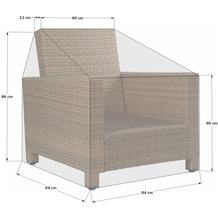 Grasekamp Schutzhülle zu Lanzarote Lounge Sessel Weiß