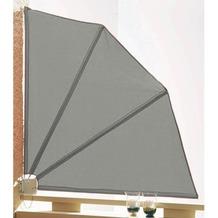 Grasekamp Sichtschutz Fächer 120x120cm Balkon  Trennwand Grau Grau