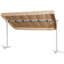 Grasekamp Standmarkise Dubai Beige 375 x 225 cm  Terrassenüberdachung Raffmarkise Mobile  Markise Sand