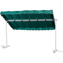 Grasekamp Standmarkise Dubai Grün 375 x 225 cm  Terrassenüberdachung Raffmarkise Mobile  Markise Grün