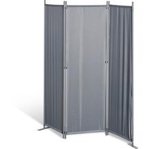 Grasekamp Stellwand 165x170 cm dreiteilig - grau -  Paravent Raumteiler Trennwand  Sichtschutz Grau