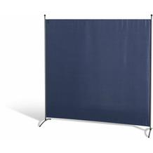 Grasekamp Stellwand 180 x 180 cm - Blau - Paravent Raumteiler Trennwand Sichtschutz Blau