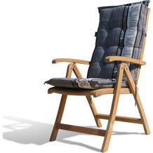 Grasekamp Teak Sessel mit Kissen Garden Grey  Gartenstühle Klappstuhl Teak Holz  Gartenmöbel Natur