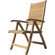 Grasekamp Teak Sessel verstellbar Gartenstühle  Klappstuhl Teak Holz Gartenmöbel Natur