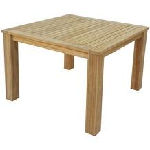 Grasekamp Teak Tisch 100x100 cm Esstisch  Gartenmöbel Gartentisch Holztisch Natur
