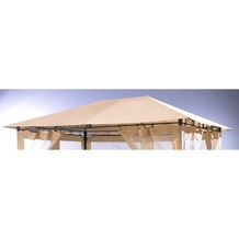 Grasekamp Universal Ersatzdach 293 x 390 cm Beige  Plane Bezug Baldachin Pavillon Beige