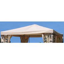 Grasekamp Universal Ersatzdach zu Pavillon 3x3m  Sand Blätter Stil Sand