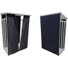 Grasekamp Wetterschutz Set Front und Rückwand zu  Kaminholzunterstand M 130 x 60 x 150 cm  Polyester Schwarz Schwarz