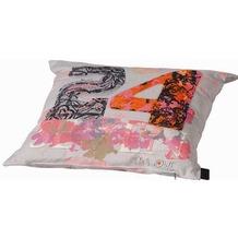 Grasekamp Zierkissen Dekokissen 40x60 cm Lidie  Grey Grau/Bunt