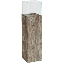 Greemotion Deko-Säule, Recycling-Holz, Glas, H 80cm