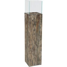 Greemotion Deko-Säule, Recycling-Holz, Glas,H 120cm