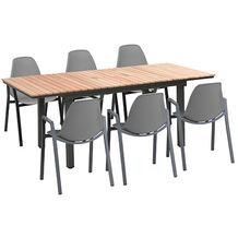 Greemotion Dining Set Mackay, 160/220 x 74 x 90 cm, grau