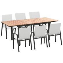 Greemotion Dining Set Mackay, 160/220 x 74 x 90 cm, weiß