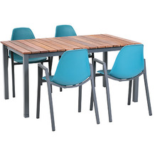 Greemotion Dining Set Sylt, 150 x 74 x 90 cm, petrol, 5-tlg