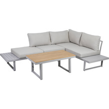 Greemotion Lounge-Set Aruba, Alu, grau, Akazienholz
